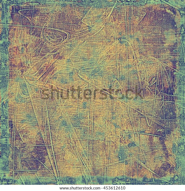 Vintage background texture, antique style composition for your design. With different color patterns: yellow (beige); brown; gray; green; purple (violet); cyan