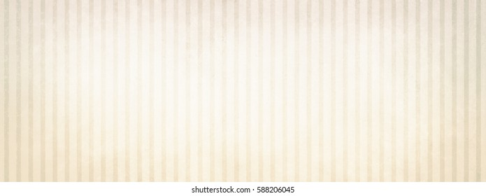 A vintage beige and white striped background design with faded light center and faint brown vignette border with shabby distressed texture.