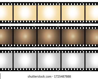 vintage blank film strip frame isolatedbackground