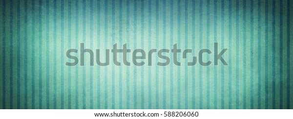 Vintage Blue Green White Striped Wallpaper Stock Illustration