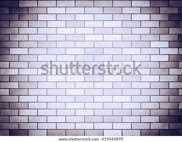 Vintage brick background vignette, lilac. A bright and decorative background in ancient style, with blackout on edge and the light center. Basis for the text and design.