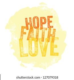 Vintage Christian design � Hope, Faith, Love - Jpeg