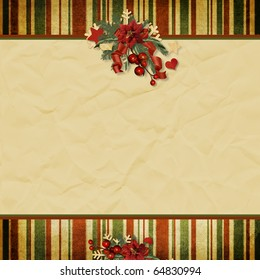 Vintage Christmas background with space for text or photo