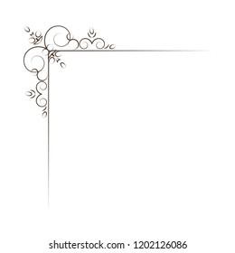 Vintage Corner elements. Swirls, filigree elements and ornate frames.  illustration. Design elements