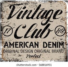 Vintage design. Stamp typography, t-shirt graphics, poster, banner, print, flyer, postcard