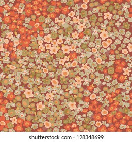 vintage ditsy flowers seamless tile