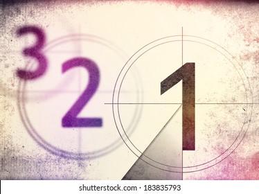 vintage film countdown 3 2 1