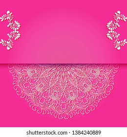 Vintage floral background, victorian pink white ornament pattern, menu for your bisness raster