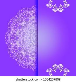 Vintage floral background, victorian violet white ornament pattern, menu for your bisness raster