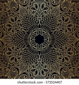 Vintage floral decorative ornamental element for design invitation card, booklet., print. Raster version.