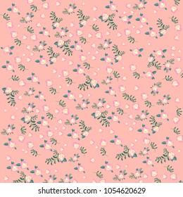 Vintage flowers pattern. Floral Illustration.