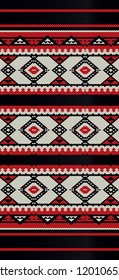 Vintage Folk Sadu Arabian Hand Weaving Pattern Model