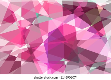 Vintage geometric pattern, mosaic. Paper textured background. cubism color background. abstract background in cubism 3D Rendering 3D illustration