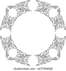 Vintage gothic lowbrow floral pattern
