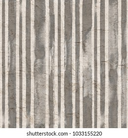 Vintage gray stripe background. Old aged paper with watercolor hand drawn stripe pattern. Vertical watercolour stripe abstract seamless texture. For fabric, textile, fashion design, wrapping wallpaper