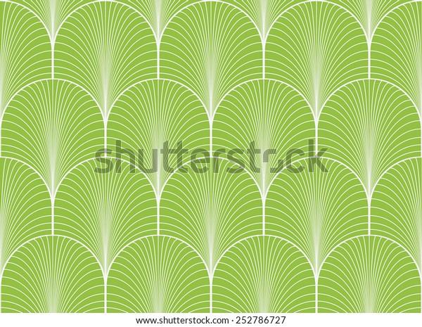 Vintage Green Seamless Art Deco Wallpaper Stock Illustration