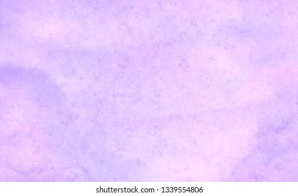 Vintage grungy purple gradient water color artistic brush paint splash background. Ink effect violet abstract soft watercolor painted illustration with paper grain texture for retro aquarelle design