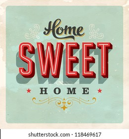 Vintage Home Sweet Home - Card - JPG Version