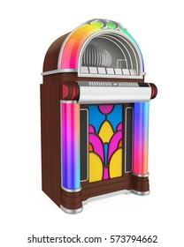 Vintage Jukebox Radio. 3D rendering