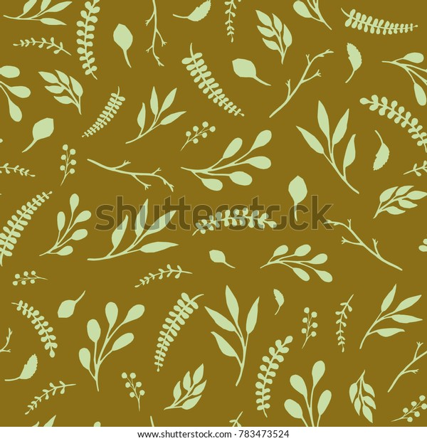 Vintage leaves seamless pattern. Dark color. Design for wallpapers, fabric.