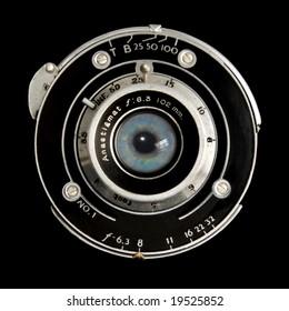 vintage lens human eye iris.