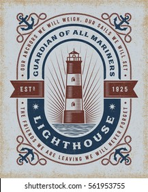 Vintage Lighthouse Typography