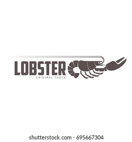 Vintage logo template lobster bar. Sea food, craft beer, alcohol, ale, brewery, bar, shop emblems and label. Branding identity corporate logo design template. Isolated on a white background