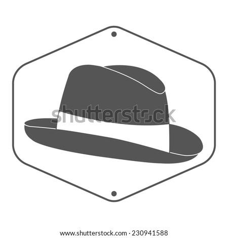 Vintage Mans Fedora Hat Label Design Stock Illustration 230941588 ...