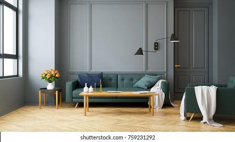 Dark Green Sofa Images, Stock Photos & Vectors | Shutterstock