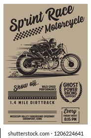 Vintage Motorcycle Poster Template
