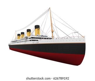 Vintage Ocean Liner. 3D rendering