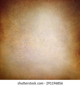 vintage old brown background texture layout, distressed aged background wall, painted brown paper image, faded white center and brown grunge border, antique background paper
