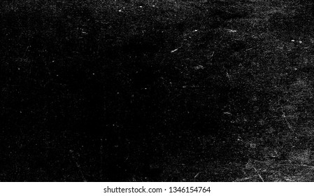 Vintage old scratched grunge overlays on isolated black background space for text