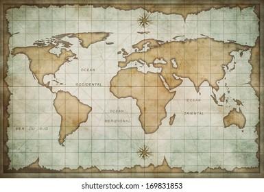 Verwonderend Royalty-Free Oude Wereldkaart Stock Images, Photos & Vectors YT-52