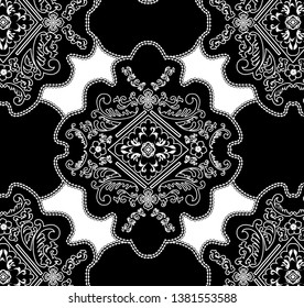 VINTAGE ORNAMENT GEOMETRIC PATTERN.FABRIC PATTERN. LONG-METHOD BAROK STUDY