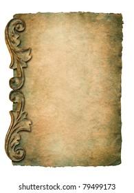 vintage paper with elegant decor elements