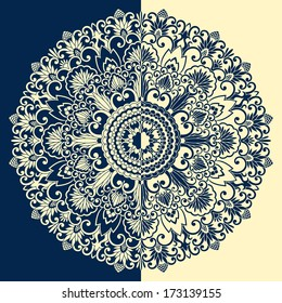 Vintage pattern for print, embroidery. Raster version.