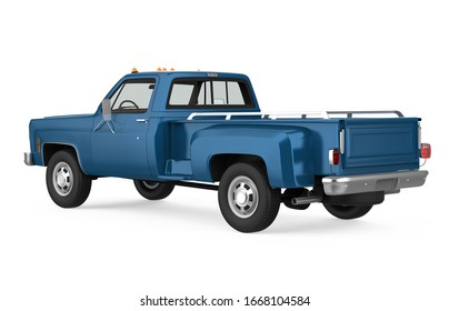 Vintage Pickup Truck Isolated. 3D rendering
