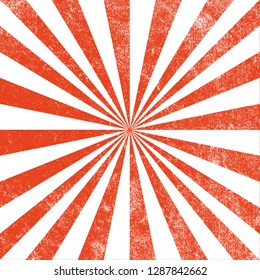 Vintage red and white sun ray,sun burst retro carnival background circus design