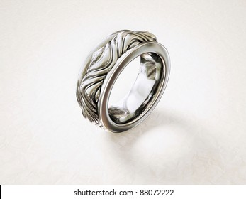 vintage ring isolated on a white background