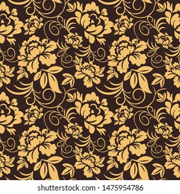 Vintage seamless floral pattern for wallpaper or fabric.