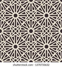 Vintage seamless texture with arabic geometric ornament. Retro pattern
