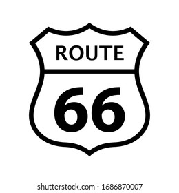 Vintage sign for route 66