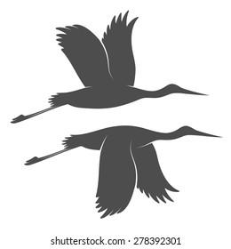 Vintage storks in high resolution