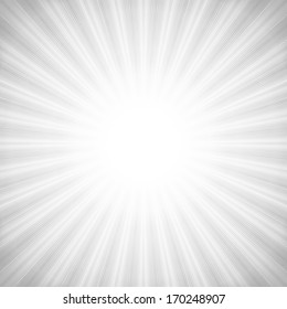 Vintage style abstract starburst background with white & gray tones