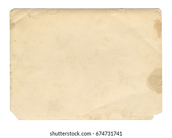 Vintage style brown old paper texture or background, with uneven torn edges.