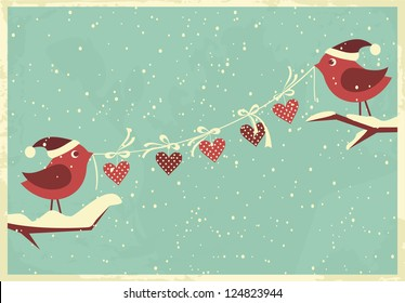 Vintage style design for Valentine's Day/Christmas.