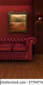 Vintage styled hotel room.