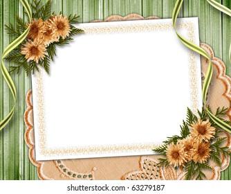 Vintage summer framework for invitation or congratulation.