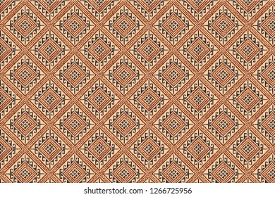 Vintage Thai weaving Pattern Textile